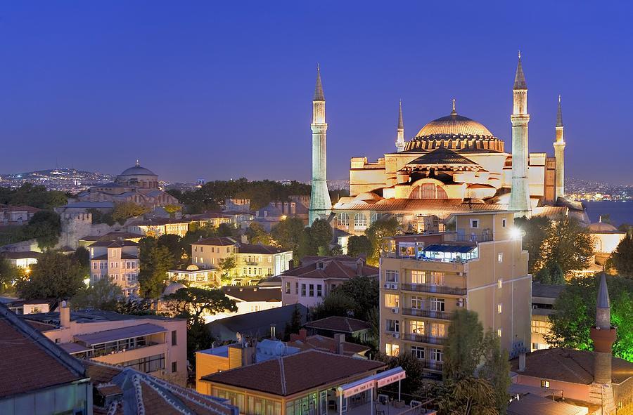 Asia Photograph - Turkey. Istanbul. Hagia Sophia Basilica by Everett