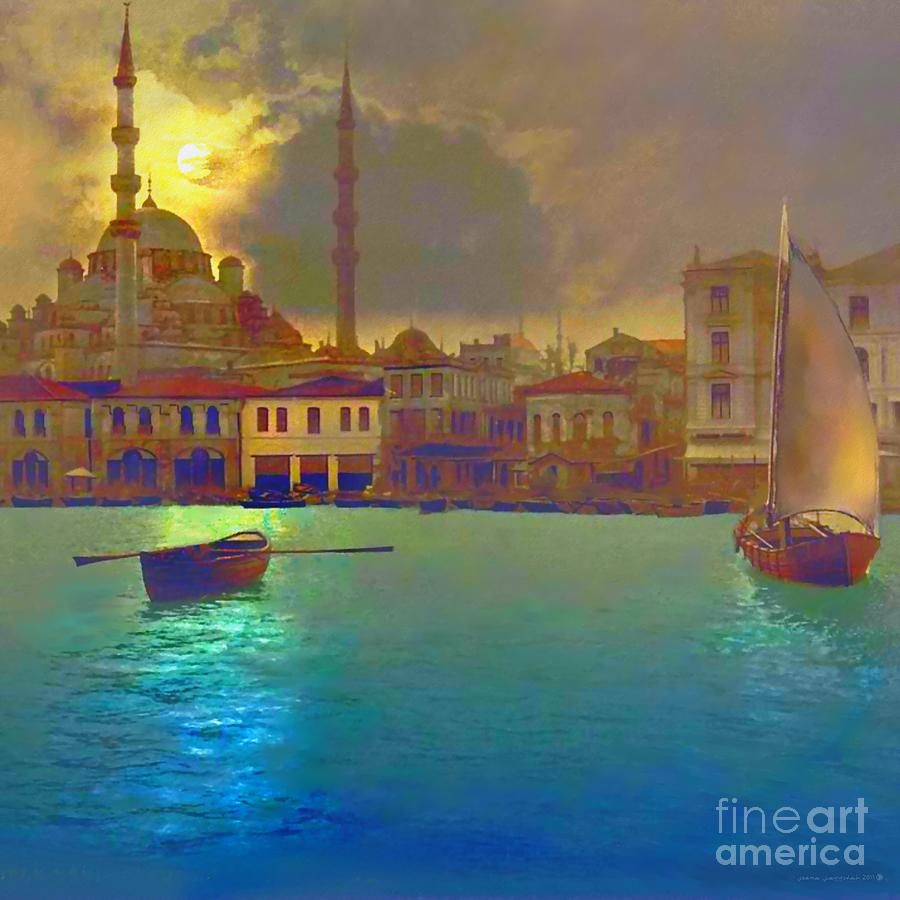 Turkish  Moonlight Painting