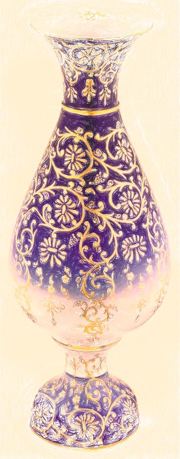 Turkish Vase 1 Crayon Painting