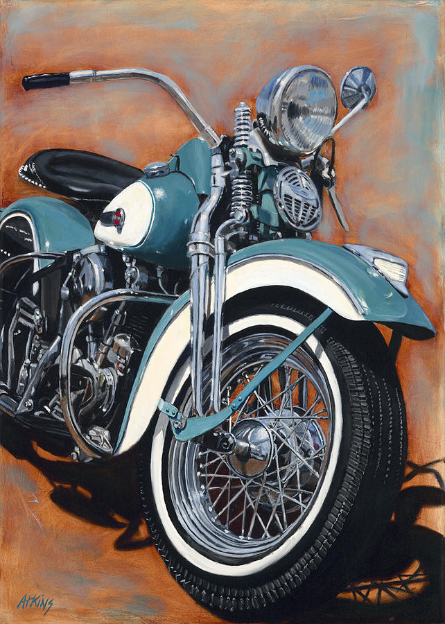 Turquoise 47 painting by jack atkins for How much to paint a motorcycle