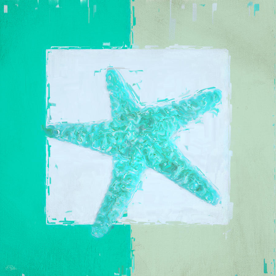 Seashell Painting - Turquoise Seashells Ix by Lourry Legarde