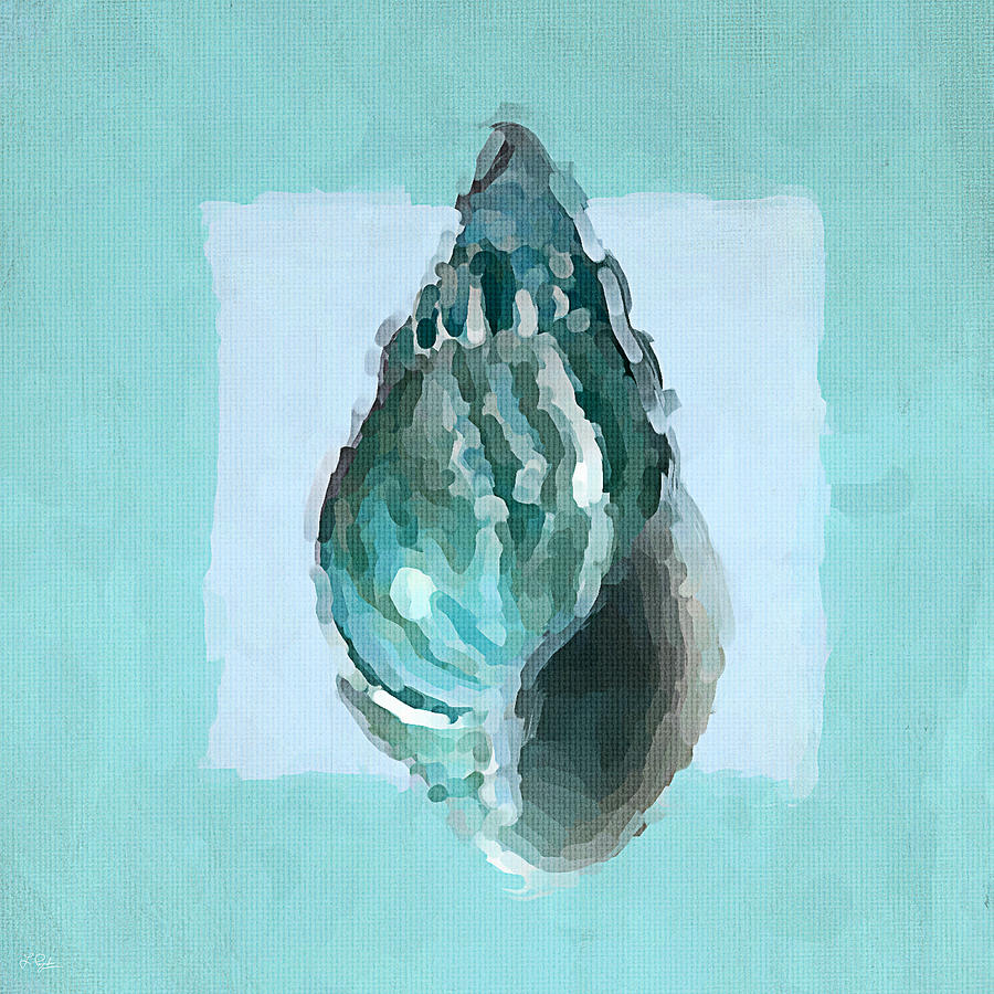Seashell Painting - Turquoise Seashells V by Lourry Legarde