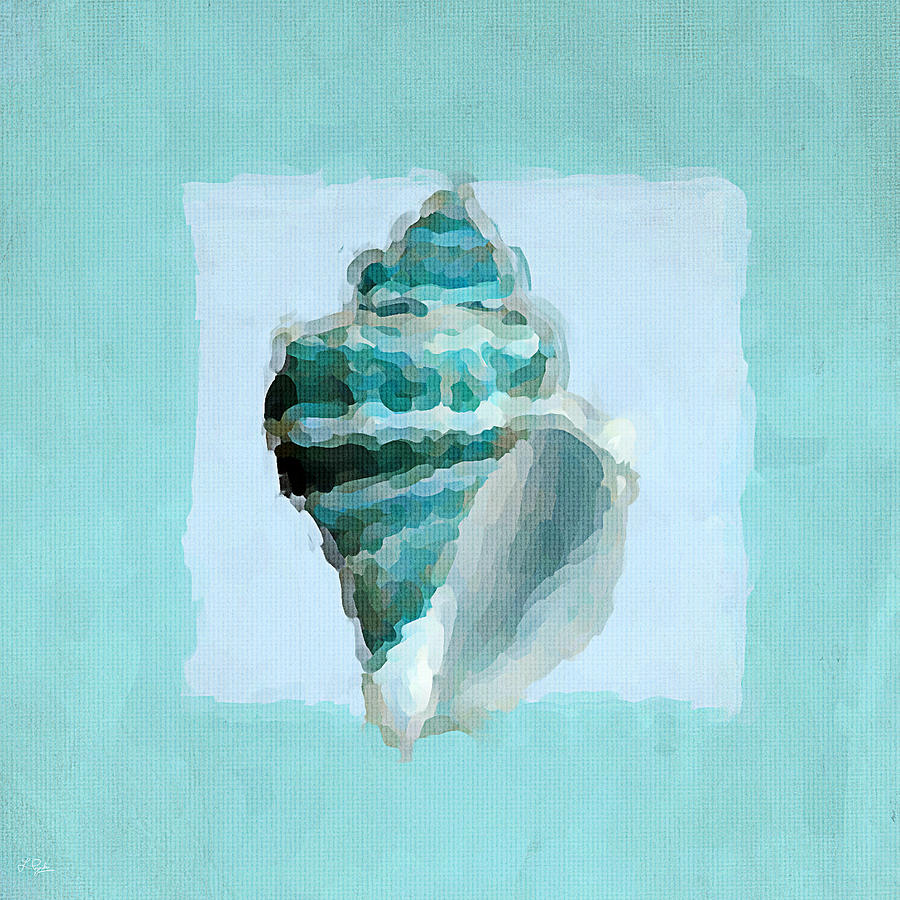 Seashell Painting - Turquoise Seashells Viii by Lourry Legarde