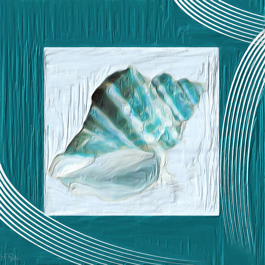 Seashell Painting - Turquoise Seashells Xxii by Lourry Legarde
