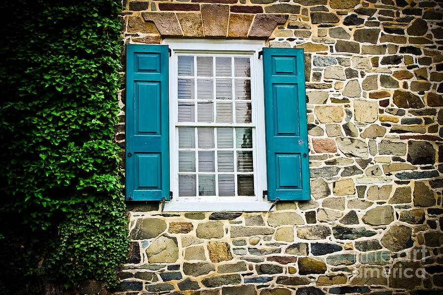 turquoise shutters is a photograph by colleen kammerer which was