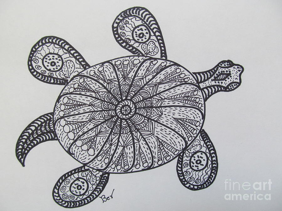 Gallery For gt Zentangle Turtle