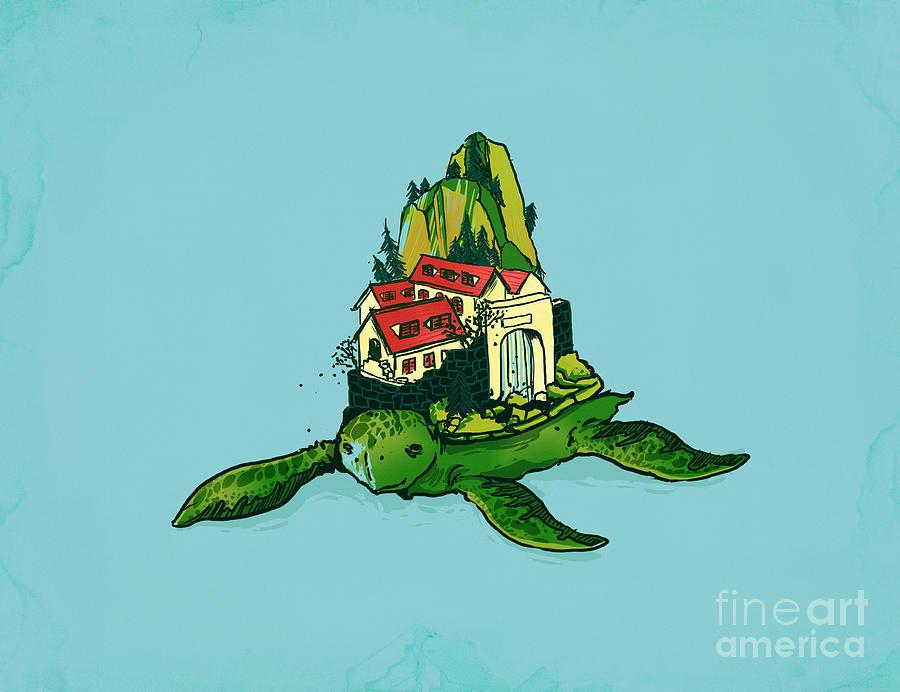 Turtle Fort Digital Art