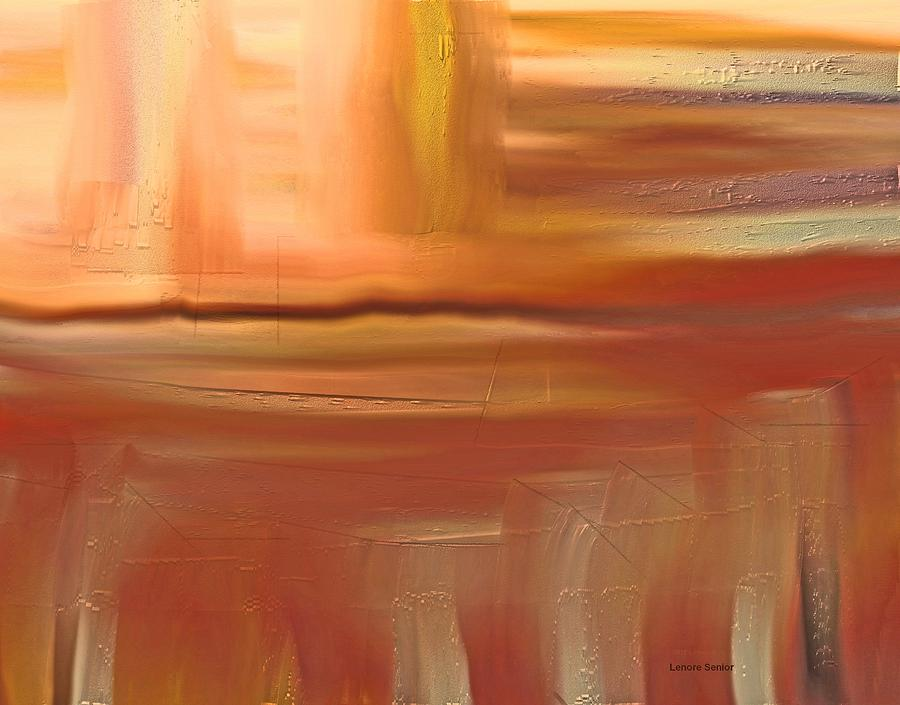 Abstract Painting - Turtleback Lake by Lenore Senior