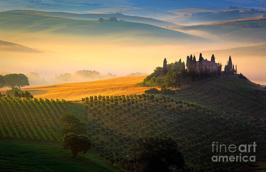 Tuscan Dawn Photograph  - Tuscan Dawn Fine Art Print