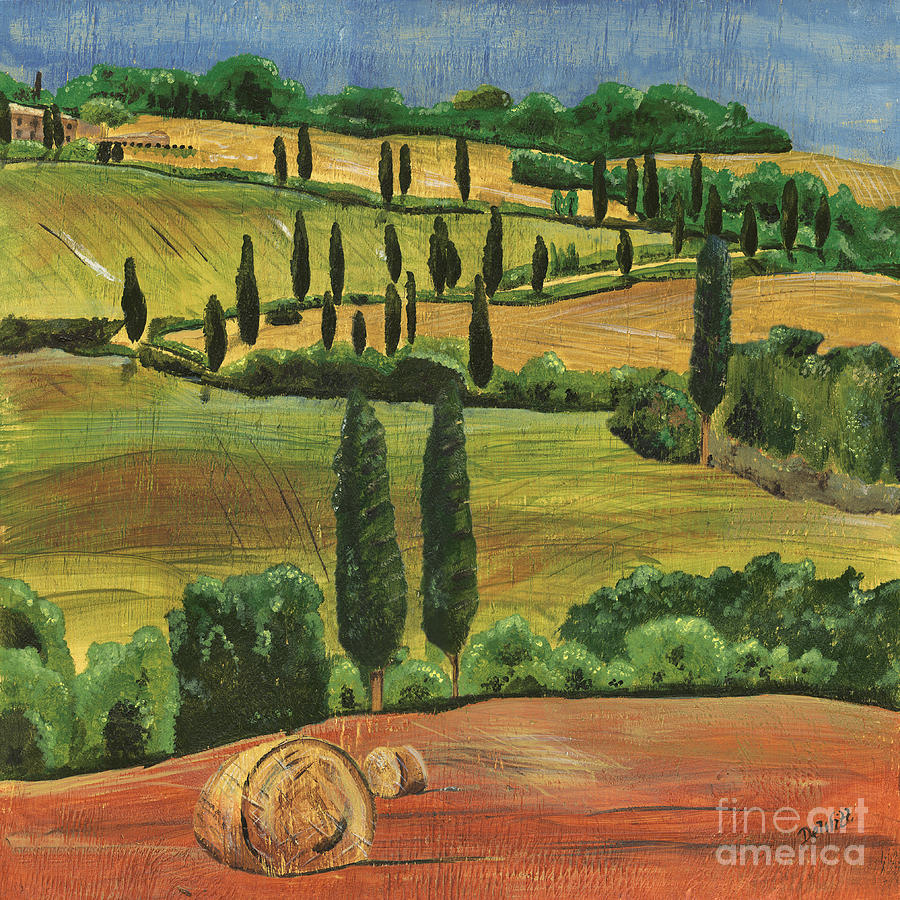 Tuscan Dream 1 Painting  - Tuscan Dream 1 Fine Art Print
