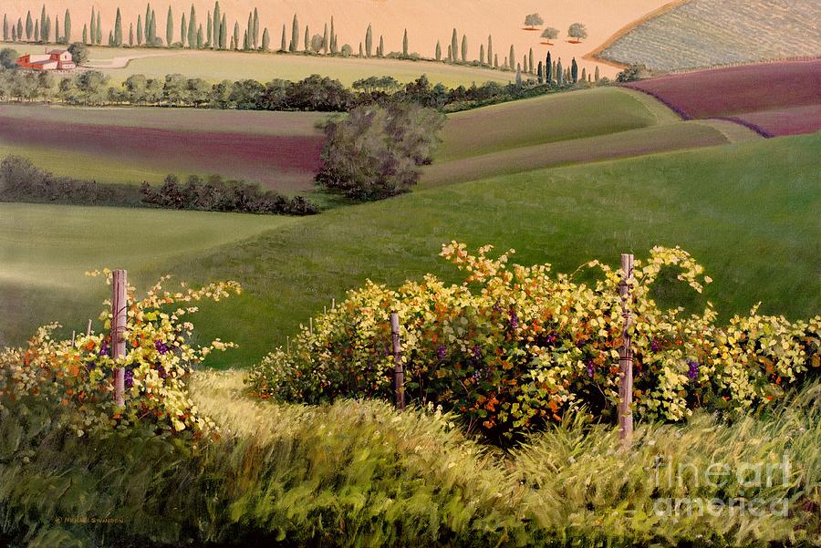 Grapevine Painting - Tuscan Hills by Michael Swanson