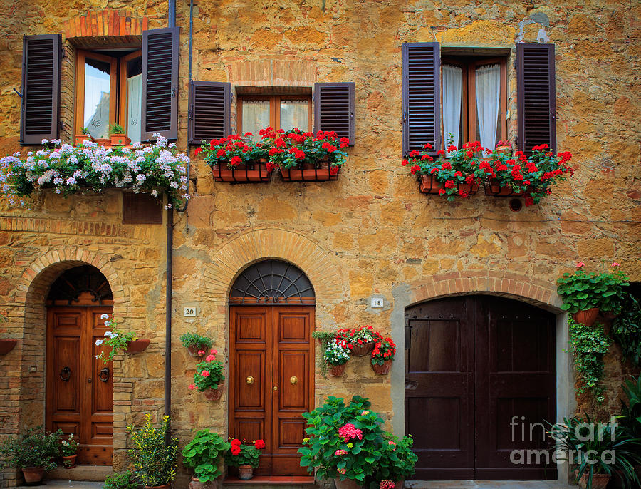 Tuscan Homes Photograph  - Tuscan Homes Fine Art Print