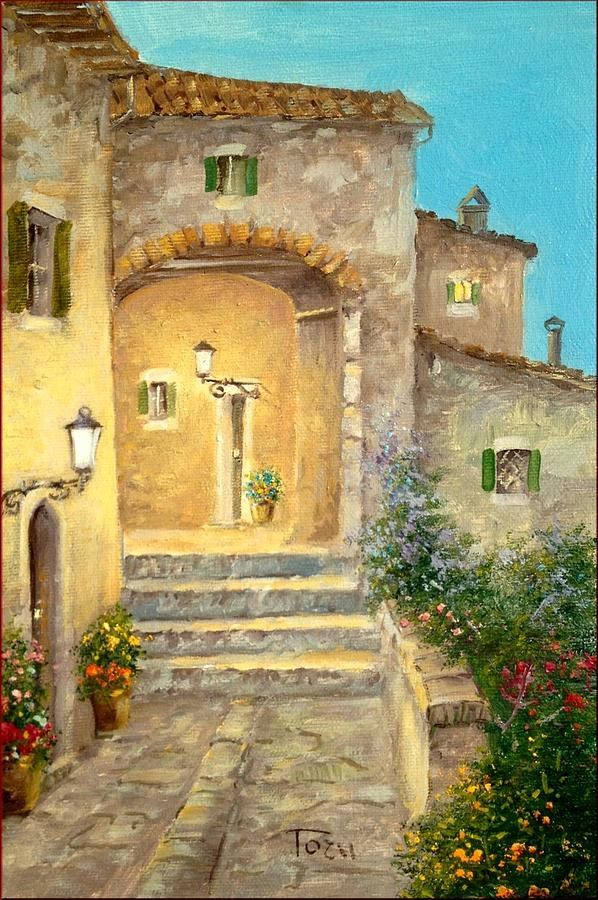 Tuscan old house painting by luciano torsi for Classic house painting