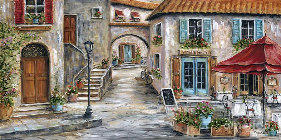 Tuscan Street Scene Painting By Marilyn Dunlap