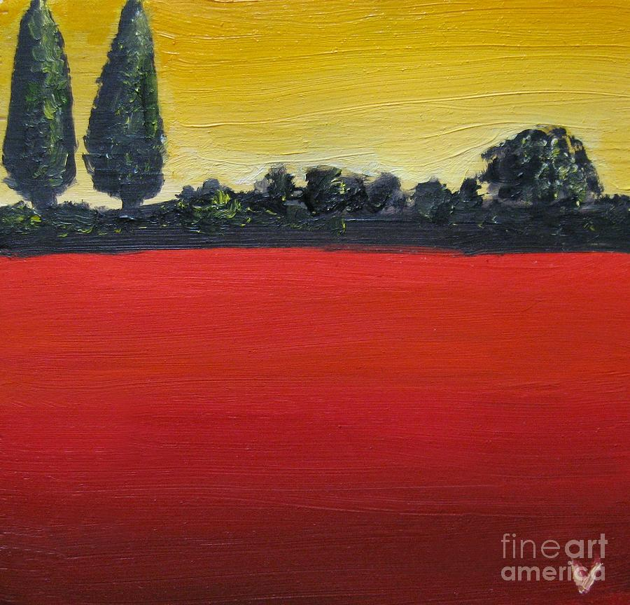 Tuscan Sunrise Painting  - Tuscan Sunrise Fine Art Print