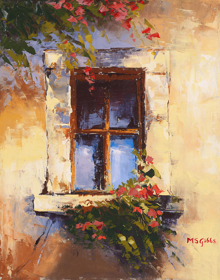 tuscan window painting by maria gibbs On window painting