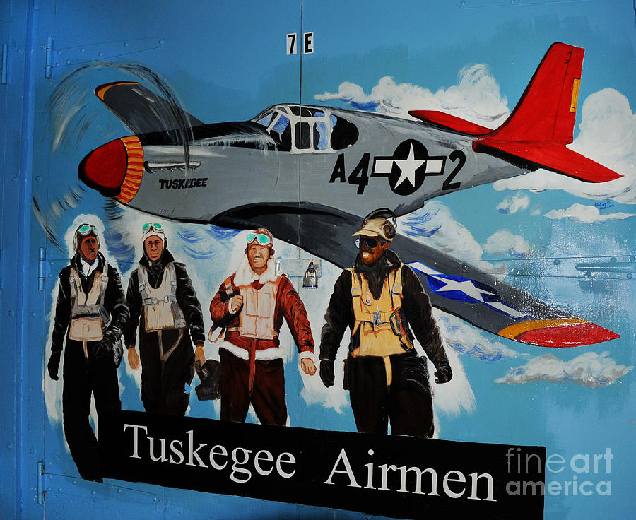 Redtails Photograph - Tuskegee Airmen by Leon Hollins III