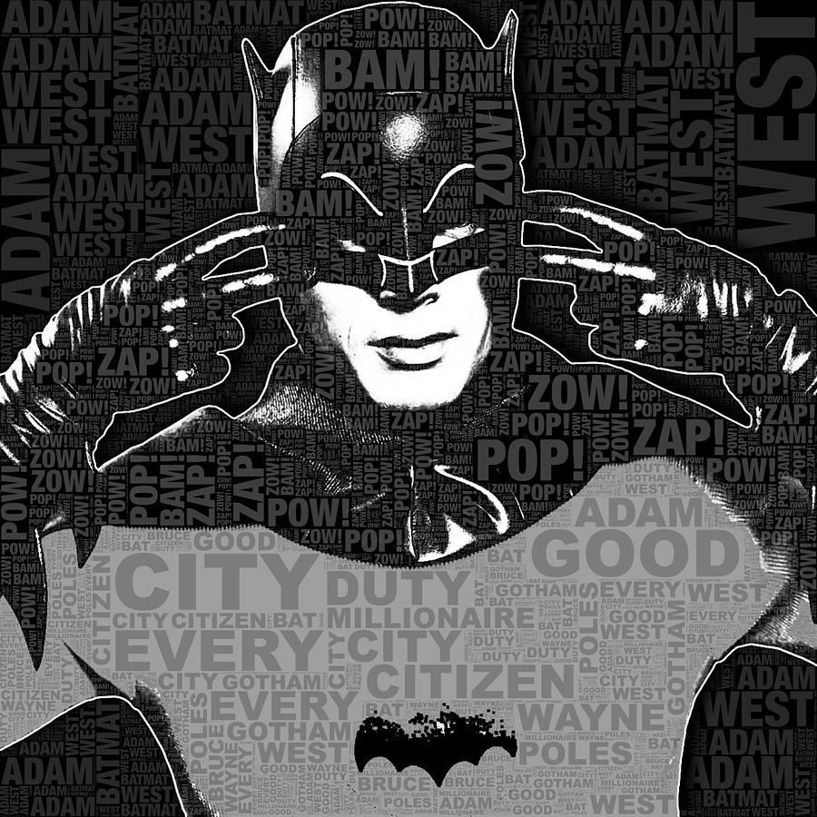 Tv Batman Adam West And Quotes Painting