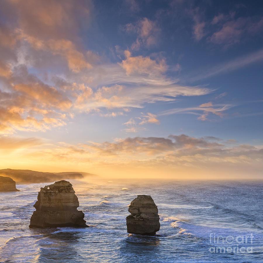 Australia Photograph - Twelve Apostles Sunrise Great Ocean Road Victoria Australia by Colin and Linda McKie