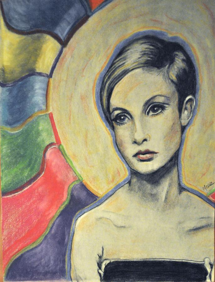 Twiggy Painting - Twiggy The Mod by Michael ODonnell