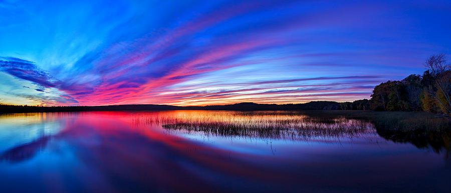 Twilight Burn Panorama Photograph