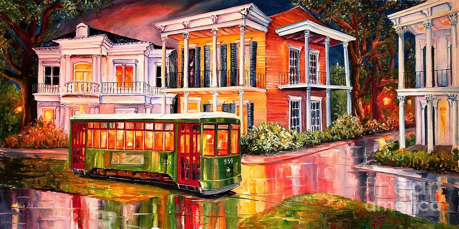 Twilight In The Garden District Painting