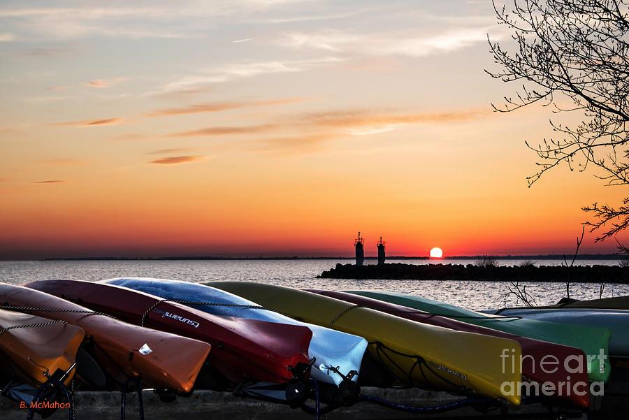 Kayak Photograph - Twilight Kayaks by Barbara McMahon