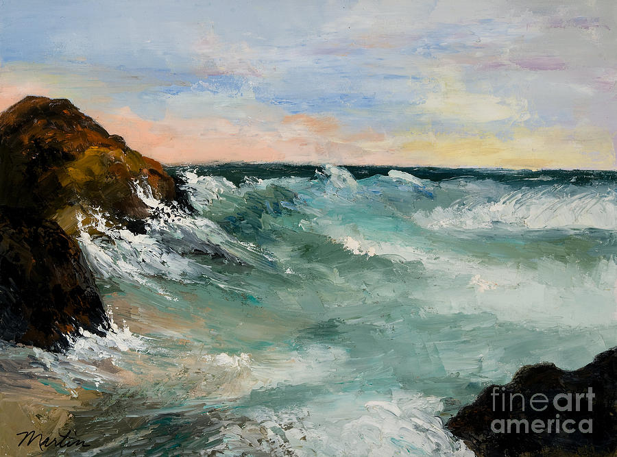 Twilight Surf Painting  - Twilight Surf Fine Art Print