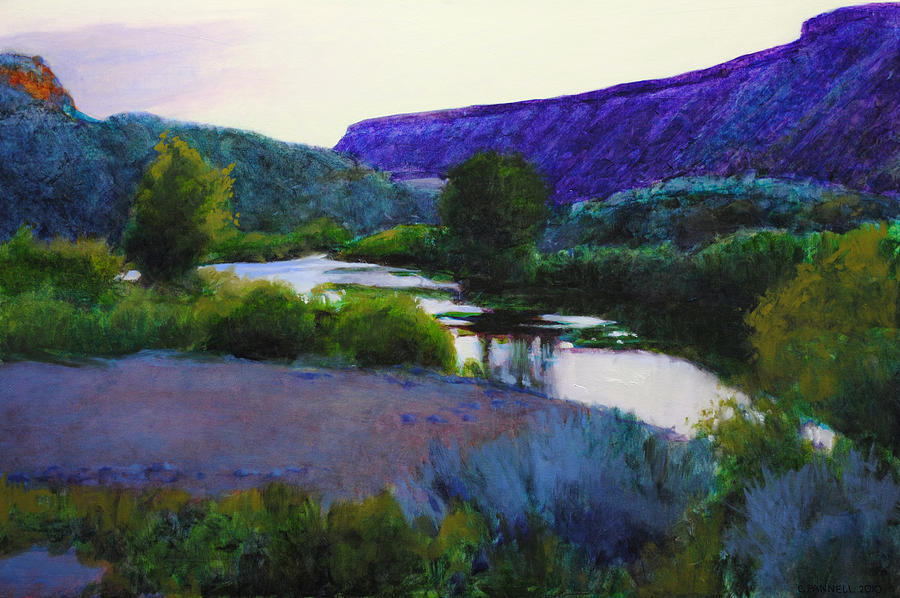 Twilight Taos Painting  - Twilight Taos Fine Art Print