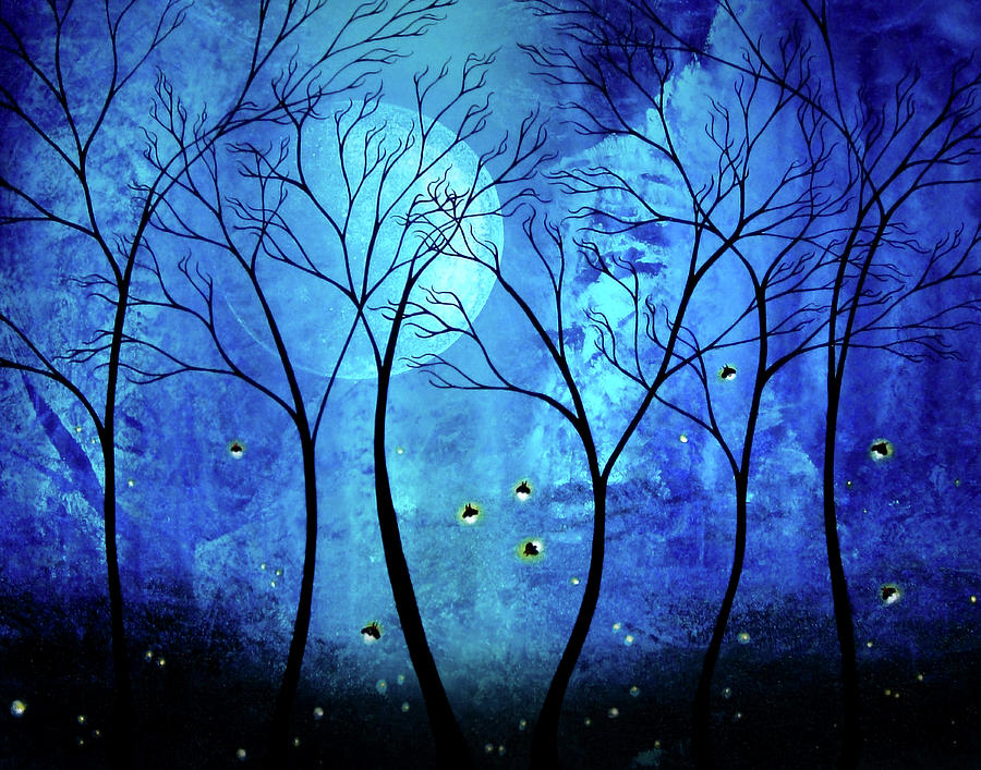 Twilights Moon Painting  - Twilights Moon Fine Art Print