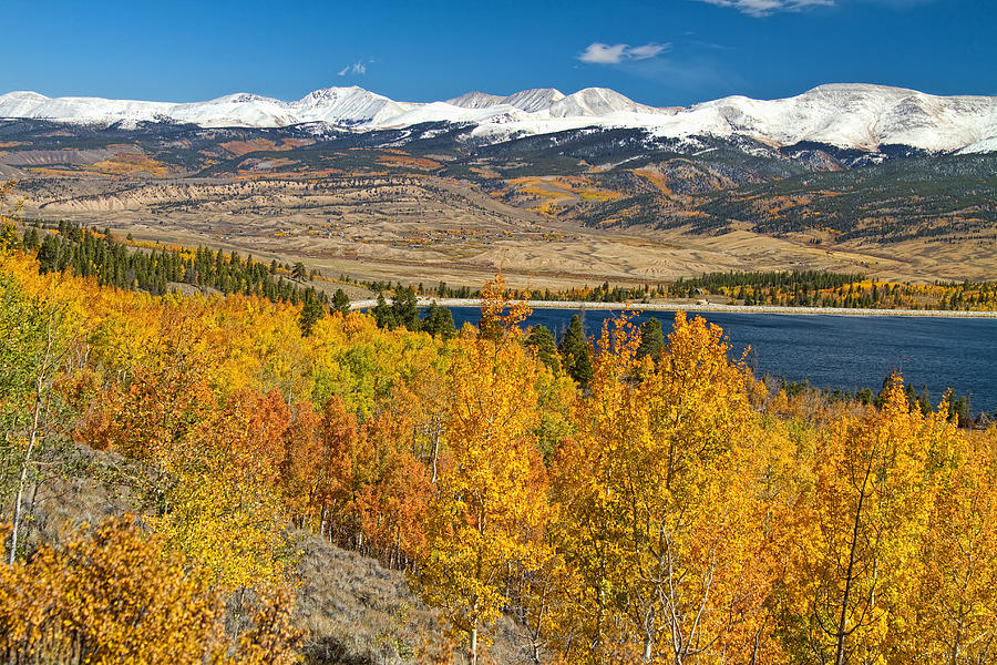 Twin Lakes Colorado Autumn Landscape Photograph