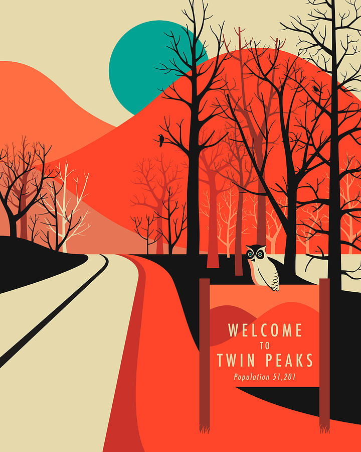 Twin peaks travel poster digital art by jazzberry blue for Posters art prints