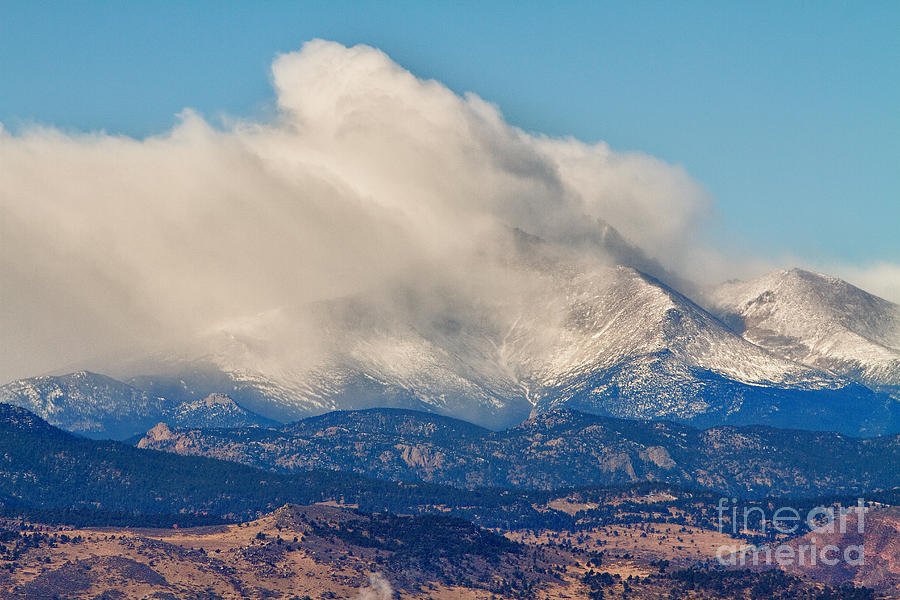 Twin Peaks Winter Weather View  Photograph  - Twin Peaks Winter Weather View  Fine Art Print