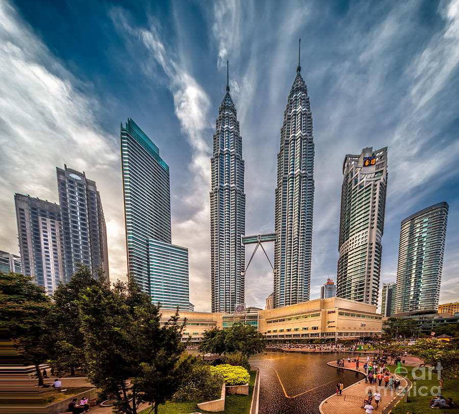 Twin Towers Kl Photograph