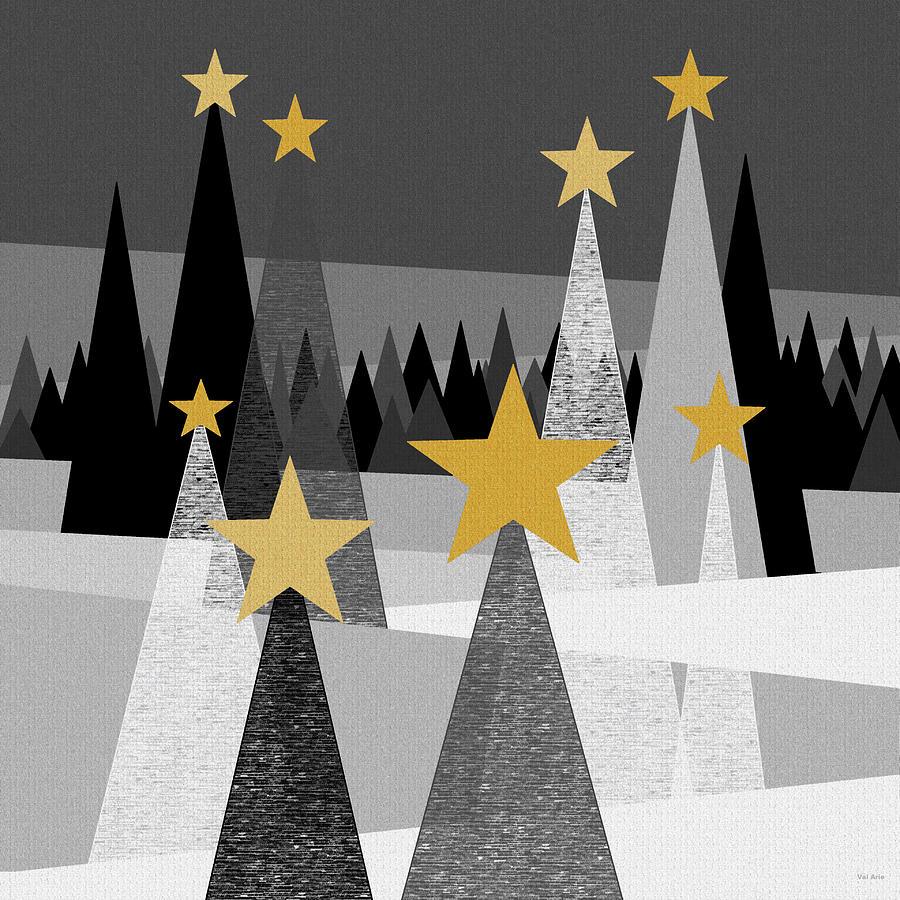 Fantasy Landscape Digital Art - Twinkle Lights by Val Arie