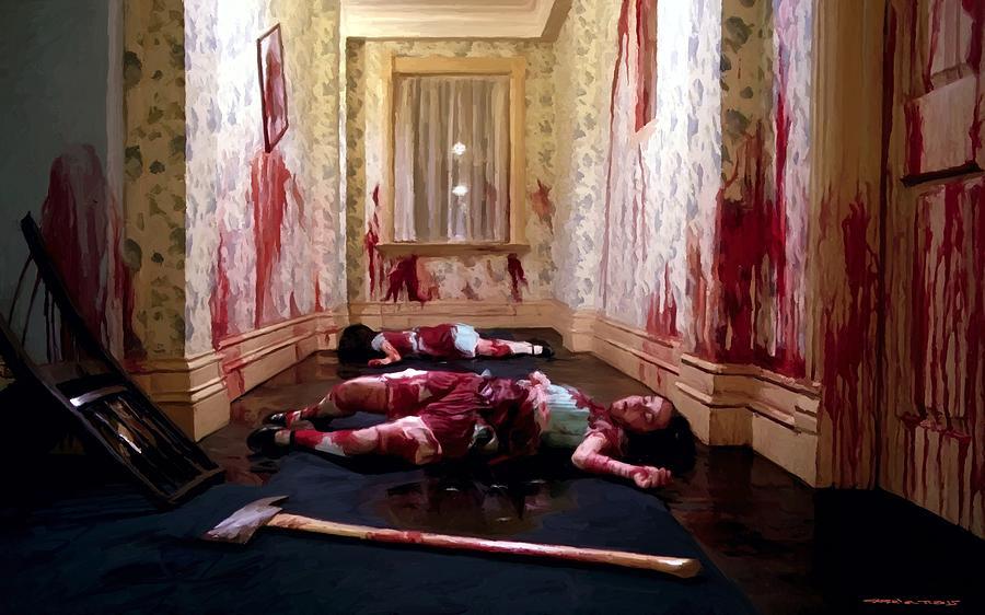 Twins Murdered The Shining Digital Art By Gabriel T Toro