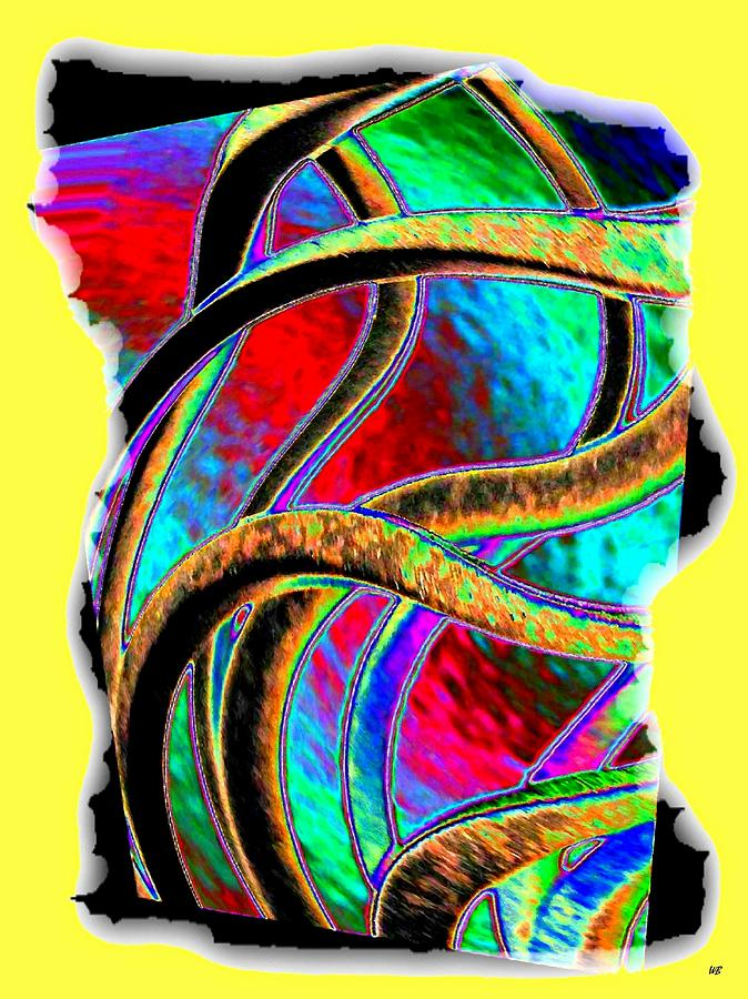 Abstract Digital Art - Twist And Shout 3 by Will Borden