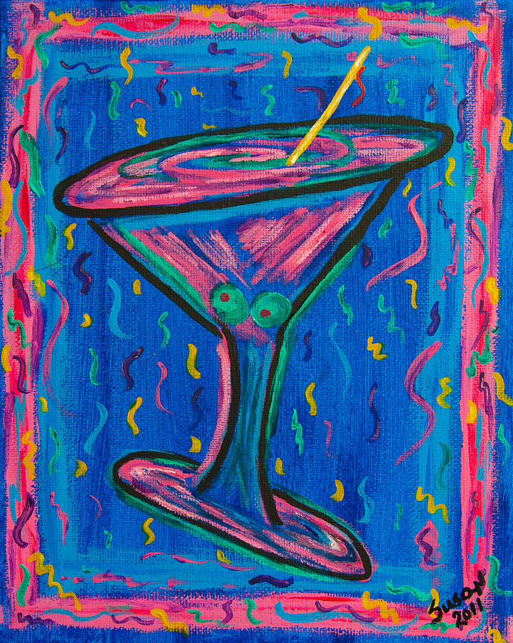 Twisted Martini Painting