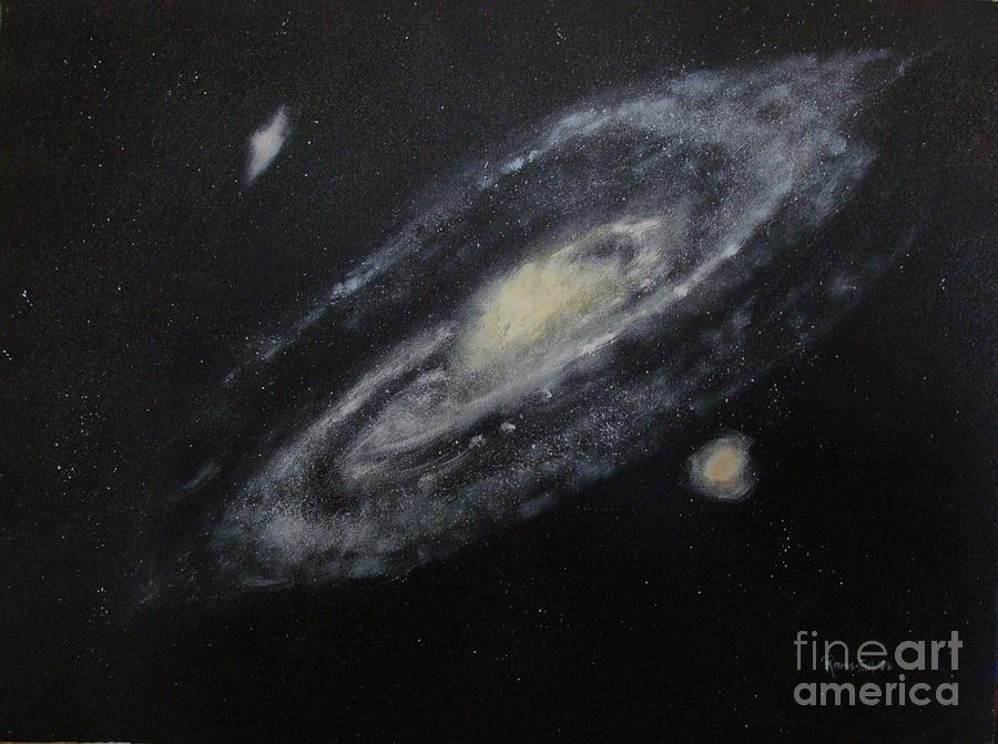Two Arm Galaxy Painting