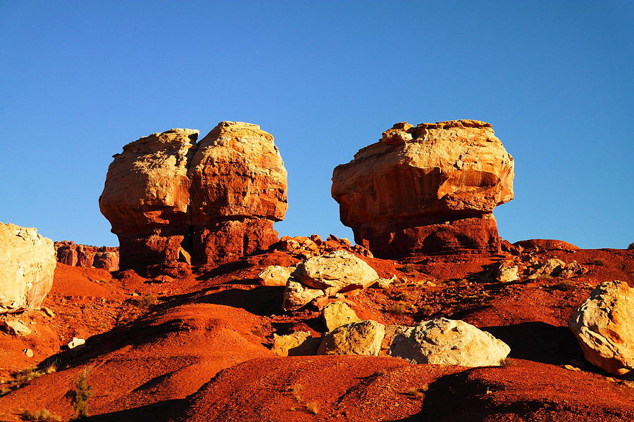Two Big Rocks At Capital Reef Photograph