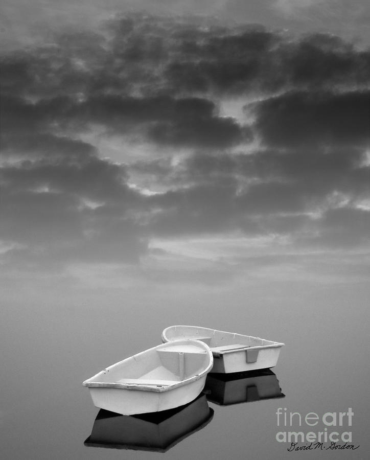 Two Boats And Clouds Photograph  - Two Boats And Clouds Fine Art Print