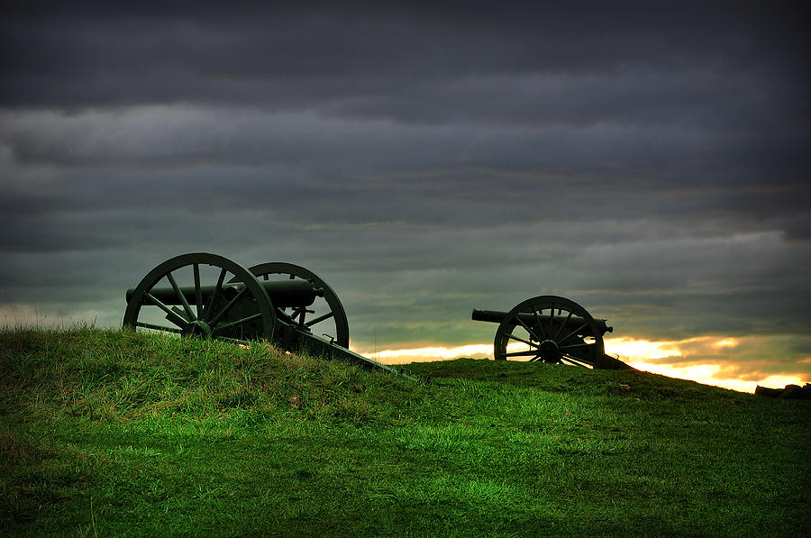 Two Cannons At Gettysburg Photograph