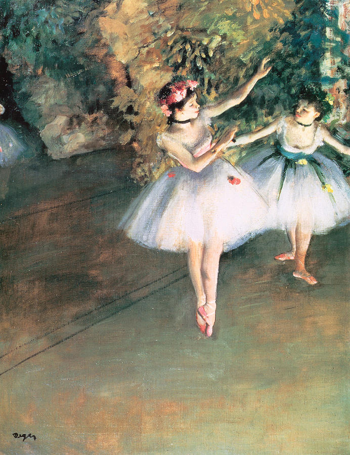 Two Dancers On A Stage Painting  - Two Dancers On A Stage Fine Art Print