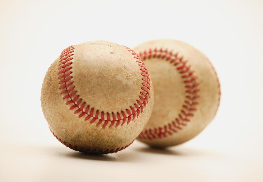 Two Dirty Baseballs Photograph