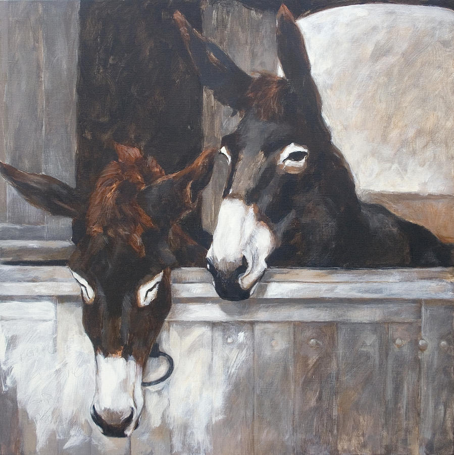 Two Donkeys Painting