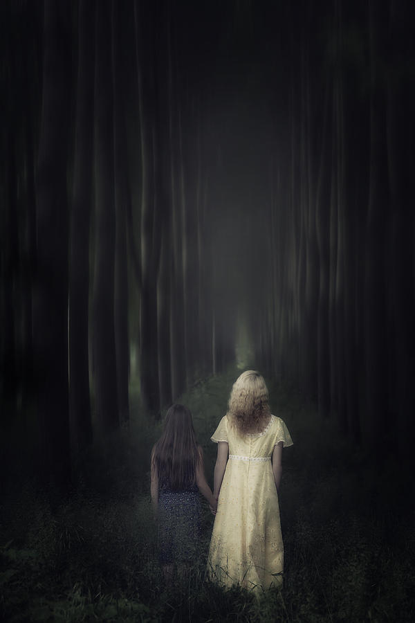 Two Girls In A Forest Photograph