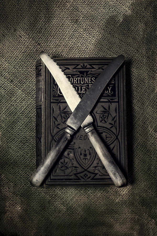 Knives Photograph - Two Knives And A Book by Joana Kruse