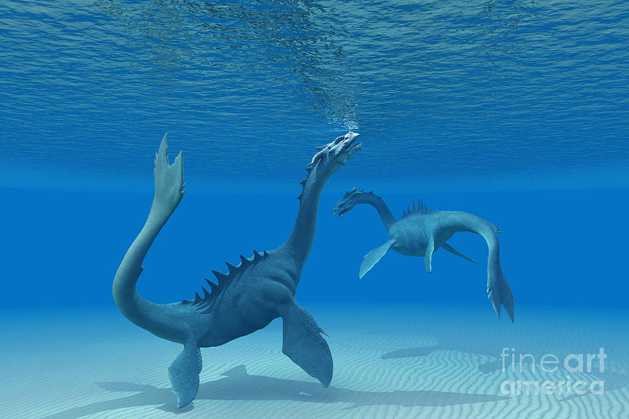 Two Sea Dragons Painting