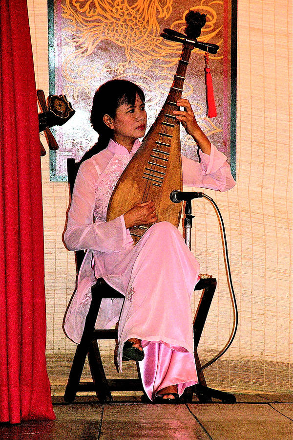 Two-stringed Lute Player At Wedding Ceremony Show In Binh Quoi Village-vietnam Photograph