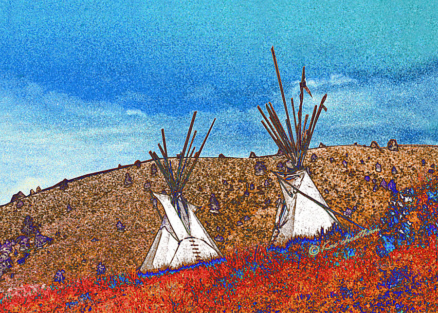 Two Teepees Photograph  - Two Teepees Fine Art Print